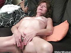 Saggy granny finger fucks her hairy pussy movies at kilogirls.com