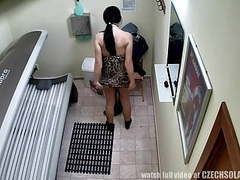 Voyeur real footage from a spy camera in solarium movies at find-best-lingerie.com