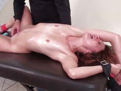 Tickling orgasm in bondage videos