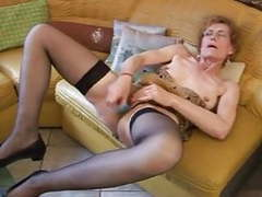 Granny carla enjoys her vibrator videos