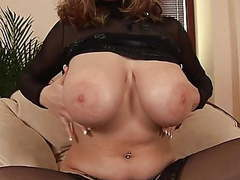 Eu babe in black stockings rubs big tits toys her pussy movies at find-best-videos.com