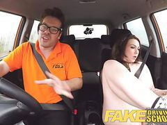 Fake driving school instructor gets titty wank from big tits movies at find-best-mature.com