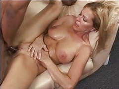 Blonde slut loves getting titty fucked by big black cock in her tight cunt videos