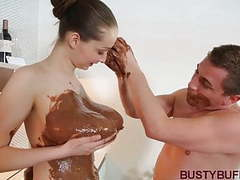 Busty buffy covered in chocolate & titty fucked movies at kilopills.com