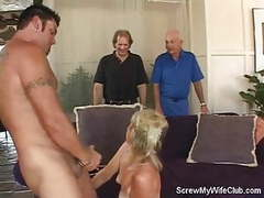 Swinger wife gets screwed, hubby approves! movies