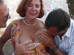 Hot mom in mature threesome movies at freekilosex.com