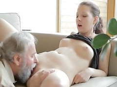 Horny old man fucks son's girlfriend movies