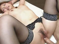 Japanese slut in stockings gets hard fuck and cream pie movies at sgirls.net