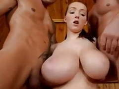 Monster titts fucked in sauna movies at dailyadult.info