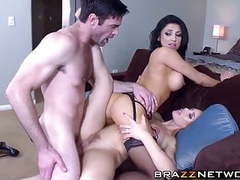 Perfect babes get banged by a lucky dude movies at kilovideos.com