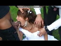 The groom the bride fucked hard in the woods movies at kilovideos.com