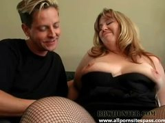 Bbw blonde milking cock with her mouth videos