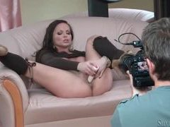 Brunette porn beauty silvia saint toys her vagina videos