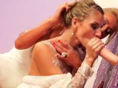 Two brides and a dildo get it on movies at freekilosex.com