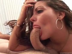 She can deepthroat a dick and goes after man videos