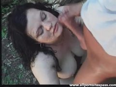 Fat bitch fuck and facial in the woods tubes
