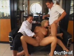 Curvy blonde double penetration scene videos