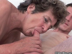 Cock hungry grandma loves anal sex videos