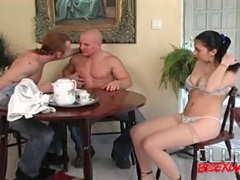 Guy sucks his dick as he eats out a pussy videos