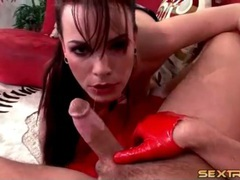 Hot looking lingerie slut gives good blowjob movies