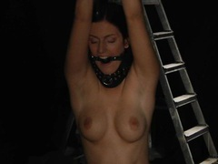 Young stunning mira in a slave trap movies