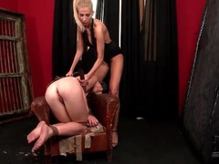 Mistress plays with the ass of a submissive videos
