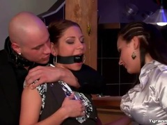 Couple enjoys kinky play with sub bar waitress movies at find-best-panties.com