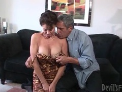 Mature seduces her man and sucks his cock movies at lingerie-mania.com