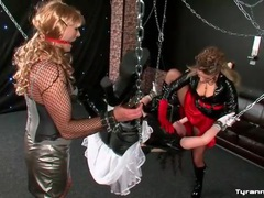 Sissy guy in sex swing strapon ass fucked videos