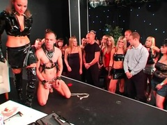 Femdom stage show features trampling of guy videos