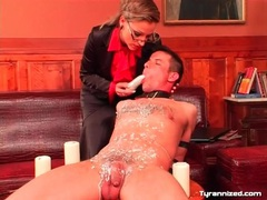 She dildo fucks guy she covered in hot wax videos