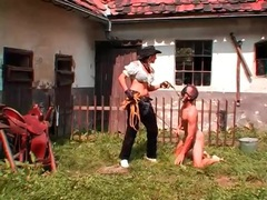 Rough outdoor pony play with a sexy mistress videos