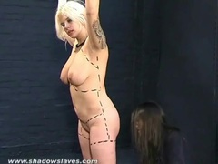 Mistress humiliates her submissive friend movies at lingerie-mania.com
