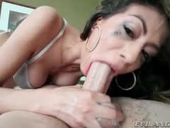 She spits up and gags when sucking dick videos