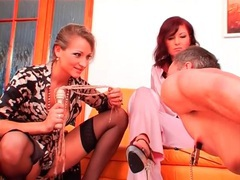 Flogged man sucks high heels and drinks from bowl videos