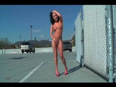 Katie st ives strips to high heels in public videos