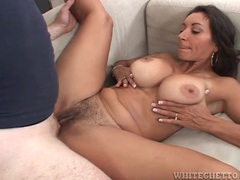 Hairy milf pussy filled with thick creampie movies at kilotop.com
