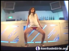 Sexy asian dances in the bar and looks hot tubes at asian.sgirls.net