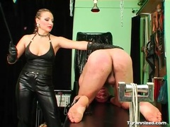 Mistress abuses his ass with her riding crop movies at sgirls.net