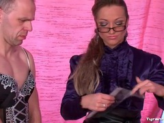 Mistress picks out lingerie for sissy guy movies at kilotop.com