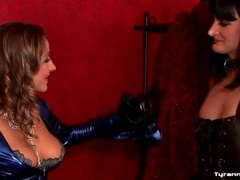Latex mistress dominates the sissy guy movies at lingerie-mania.com