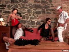 Sailors worship pussy and ass of sexy women movies at lingerie-mania.com