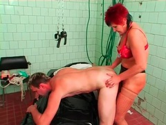 Mature nurse strapon fucks and fists a guy movies at find-best-hardcore.com