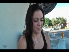 Cutie masturbates in car and flashes in public movies at reflexxx.net