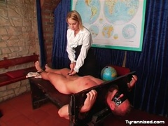 Bound by headmistress and flogged on his chest videos