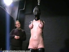 Hooded girl takes painful tit torture movies at find-best-ass.com