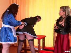 Mistress kinky play with two french maid sluts movies at adspics.com