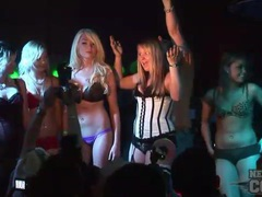 Babes ride the bull and party at the club movies at kilosex.com