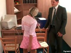 Schoolgirls tie up the teacher in his office movies