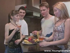 Young sex parties - teen swingers fuck together videos